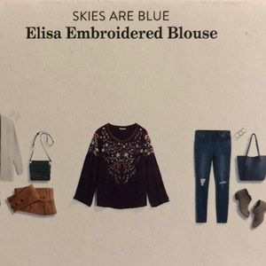 Elisa embroidered blouse lined